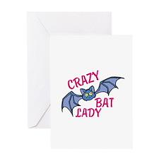 Crazy bat lady Greeting Cards