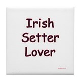 Irish Setter Lover Tile Coaster