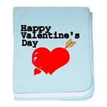 Happy Valentines Day baby blanket