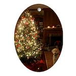 Christmas dog Ornament (Oval)