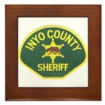 Inyo County Sheriff Framed Tile
