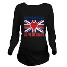 British Guys Drive M Long Sleeve Maternity T-Shirt