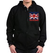 British Guys Drive Me Crazy Cupi Zip Hoodie