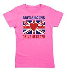 British Guys Drive Me Crazy Cupid Briti Girl's Tee