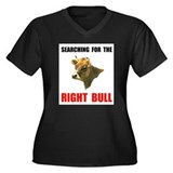 RIGHT BULL Women's Plus Size V-Neck Dark T-Shirt