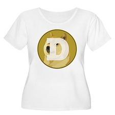 Dogecoin Plus Size T-Shirt