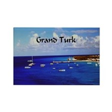 Grand Turk Sailboats Rectangle Magnet