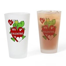 Crocodile Be My Valentine Drinking Glass