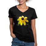 Ameriku Women's V-Neck Dark T-Shirt