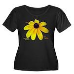 Ameriku Women's Plus Size Scoop Neck Dark T-Shirt