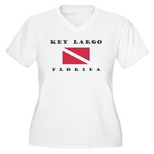Key Largo Florida Dive Plus Size T-Shirt