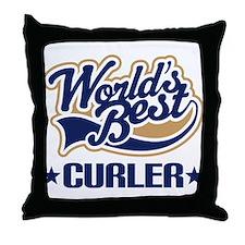 Curler (Worlds Best) Throw Pillow
