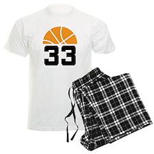 Basketball Number 33 Player Gift Pajamas