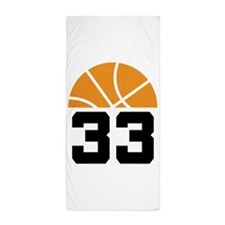 Basketball Number 33 Player Gift Beach Towel