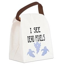 I See Dead Pixels Canvas Lunch Bag