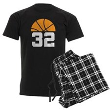 Basketball Number 32 Player Gift Pajamas