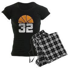 Basketball Number 32 Player Gift Pajamas