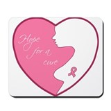 Breast Cancer Heart Mousepad