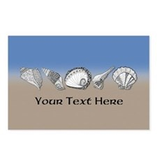 Beach Seashell Theme Art Personalizable Postcards