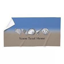 Beach Seashell Theme Art Personalizable Beach Towe