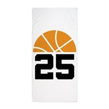 Basketball Number 25 Player Gift Beach Towel