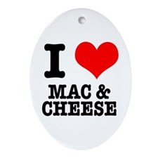 I Heart (Love) Mac & Cheese Oval Ornament
