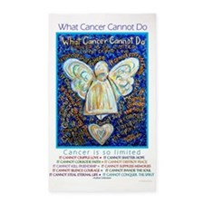 Blue & Gold Cancer Angel 3'x5' Area Rug