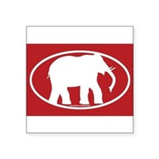 Red Elephant Sticker