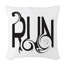 Unique RUN Woven Throw Pillow