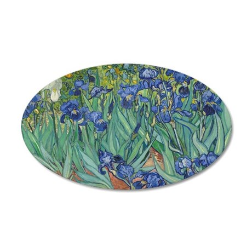Vincent van Gogh - Irises 35x21 Oval Wall Decal