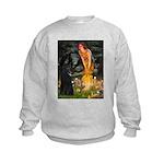 8x10-MidEve-BelgianShep1.png Kids Sweatshirt