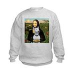 16x20c-Mona-BullTerrierPer.PNG Kids Sweatshirt