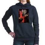 LADY-CockerBlk-C-red.png Hooded Sweatshirt