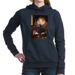 Cocker (black) - Queen.png Hooded Sweatshirt