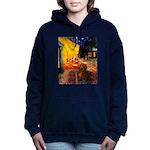 MP-Cafe-Dachs-Brwn1.png Hooded Sweatshirt