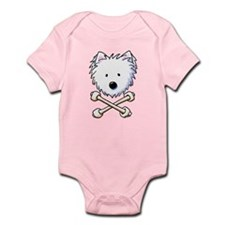Torrid Westie Crossbones Infant Bodysuit