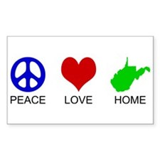 Peace Love Home Rectangle Bumper Stickers