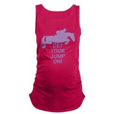 Horse Jumping Get Your Jump On Maternity Tank Top