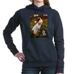 Eskimo Spitz 1 - Windflowers.png Hooded Sweatshirt