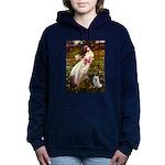 Eskimo Spitz 1 - Windflowers.png Hooded Sweatshirt