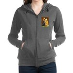 Flat Coated Retriever 1 - The Kiss.png Zip Hoodie