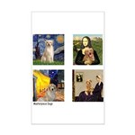 T-FamousArt-w-4-Goldens-clear.png Mini Poster Prin