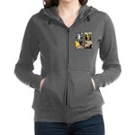 T-FamousArt-w-4-Goldens-clear.png Zip Hoodie