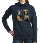 T-FamousArt-w-4-Goldens-clear.png Hooded Sweatshir