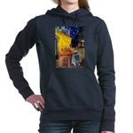 Terrace Cafe - Keeshond (F).png Hooded Sweatshirt