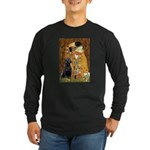 5.5x7.5-Kiss-BlkLab4.png Long Sleeve Dark T-Shirt