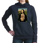 Lhasa Apso 9 - Mona Lisa.png Hooded Sweatshirt