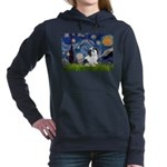 Lhasa Apso 2 - Starry Night.png Hooded Sweatshirt