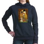 Lhasa Apso 4 - The Kiss.png Hooded Sweatshirt