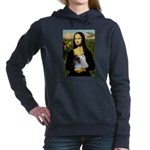 5.5x7.5-Mona-Pom-Red-Wht.PNG Hooded Sweatshirt